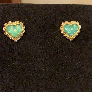 Bested Johnson stud heart earrings. Cute!!